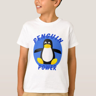 Poder del pingüino playera