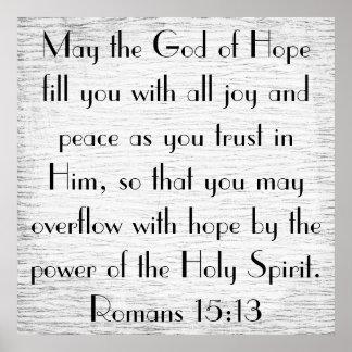 Poder del poster del verso de la biblia del Espíri