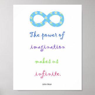 Poder del poster inspirado del infinito de la póster