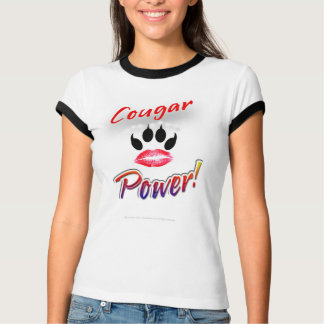 """""""Poder del puma!"""" Camisa de Pawprint del lápiz"""