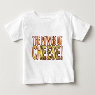 Poder del queso verde playera de bebé