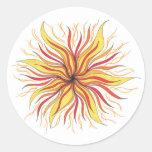 poder del sol pegatinas redondas