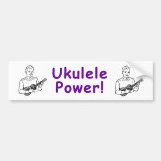 ¡Poder del Ukulele! Pegatina De Parachoque