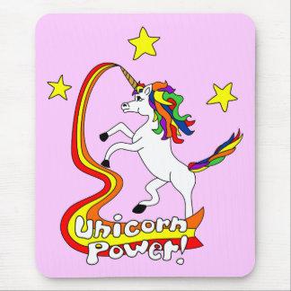 ¡Poder del unicornio! Alfombrillas De Ratones