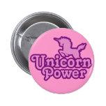 ¡Poder del unicornio! Botones de la novedad de la  Pin
