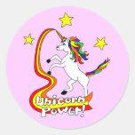 ¡Poder del unicornio! Etiqueta