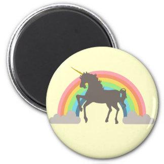 Poder del unicornio imán redondo 5 cm