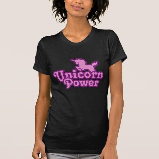¡Poder del unicornio! Playeras