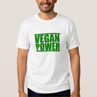 Poder del vegano camisas