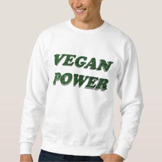 Poder del vegano pullover sudadera