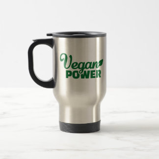 Poder del vegano taza de viaje