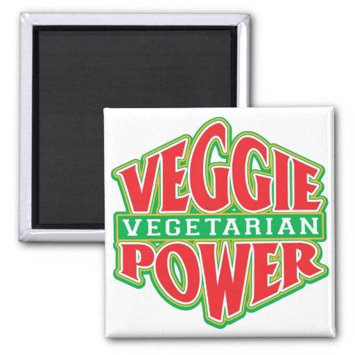 Poder del Veggie Imán Para Frigorifico