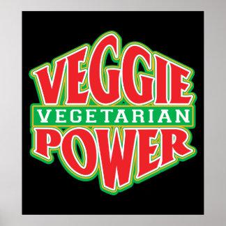 Poder del Veggie Póster