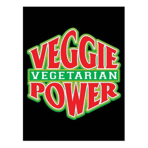 Poder del Veggie Tarjetas Postales