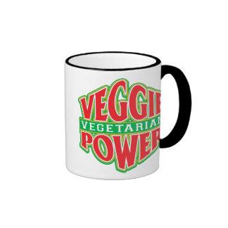 Poder del Veggie Taza De Dos Colores