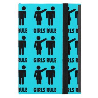 Poder divertido del chica de las azules turquesas iPad mini cobertura