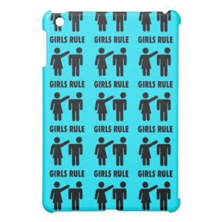 Poder divertido del chica de las azules turquesas iPad mini funda