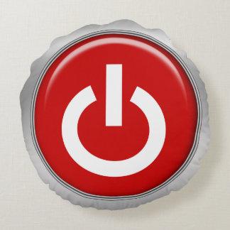 poder divertido en de diseño geeky de los botones cojín redondo