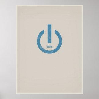 Poder en el poster minimalistic