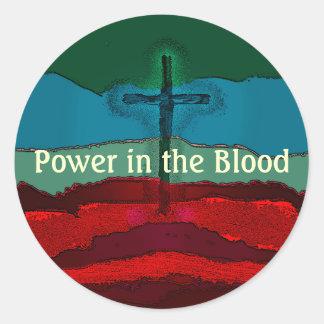 Poder en la sangre de Jesús Pegatina Redonda