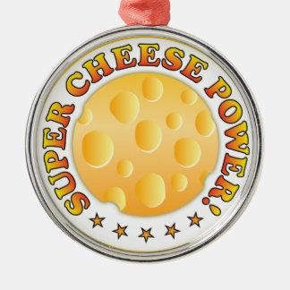 Poder estupendo del queso ornamento para reyes magos
