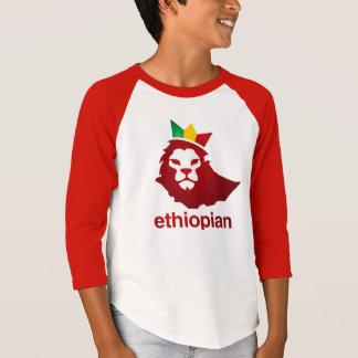 Poder etíope - 3/4 camiseta del raglán de la manga