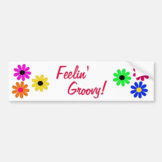 Poder-Feelin' de la flor maravilloso Etiqueta De Parachoque