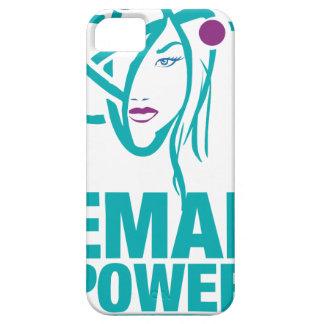 Poder femenino iPhone 5 carcasa