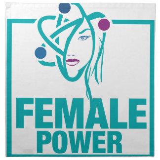 Poder femenino servilletas