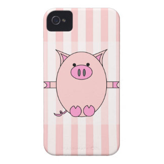 Poder guarro - Piggies rosado y rayas Funda Para iPhone 4 De Case-Mate