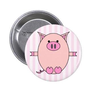Poder guarro - Piggies rosado y rayas Pins