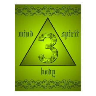Poder holístico del alcohol del cuerpo de la mente postal