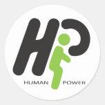 Poder humano pegatina
