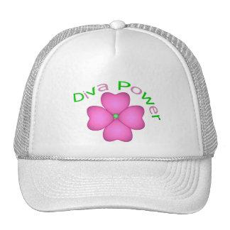 Poder inspirado de la diva de la flor gorro de camionero