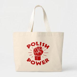 Poder polaco bolsa tela grande
