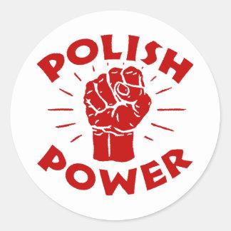 Poder polaco pegatina redonda