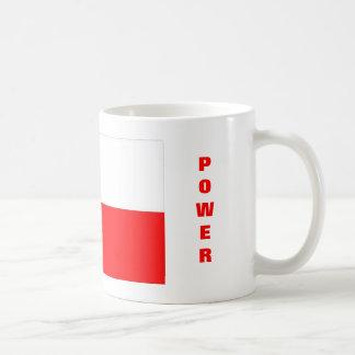 Poder polaco tazas de café