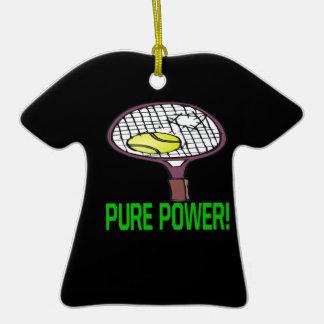 Poder puro adorno de cerámica en forma de camiseta