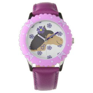 Poder púrpura del potro - reloj de mano