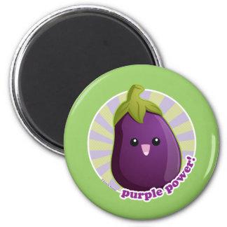 ¡Poder púrpura! Imán Redondo 5 Cm