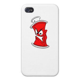 Poder roja de la pintura de aerosol del dibujo iPhone 4 carcasa