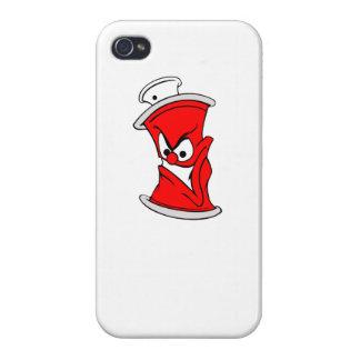 Poder roja de la pintura de aerosol del dibujo iPhone 4 fundas