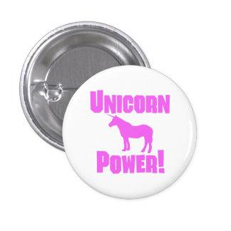 Poder rosado del unicornio pin