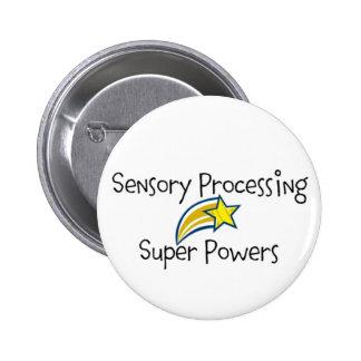 ¡Poder sensorial! Botón amarillo de la estrella Pins
