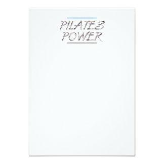 """Poder SUPERIOR de Pilates Invitación 5"""" X 7"""""""