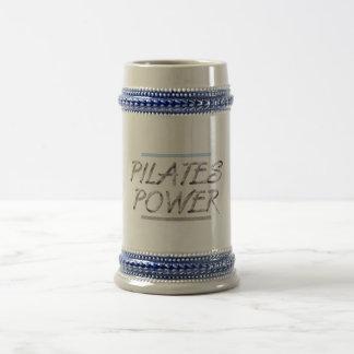 Poder SUPERIOR de Pilates Jarra De Cerveza