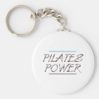 Poder SUPERIOR de Pilates Llavero Redondo Tipo Pin