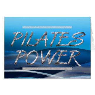 Poder SUPERIOR de Pilates Tarjeta De Felicitación