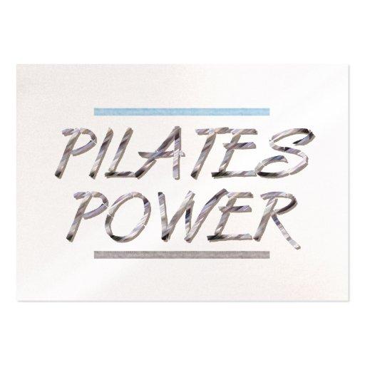 Poder SUPERIOR de Pilates Tarjetas De Negocios