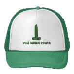 Poder vegetariano gorros bordados